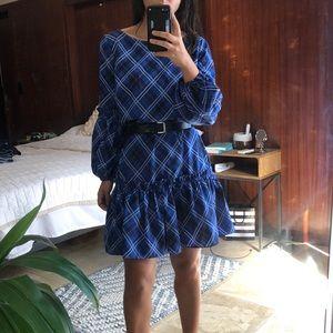 Eliza J pleated ruffles dress sz 2